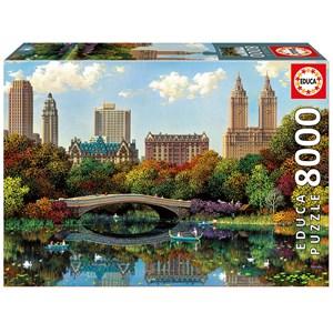 """Educa (17136) - Alexander Chen: """"Central Park Bow Bridge"""" - 8000 pieces puzzle"""