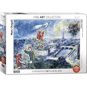 """Eurographics (6000-0850) - Marc Chagall: """"Le Bouquet de Paris"""" - 1000 pieces puzzle"""