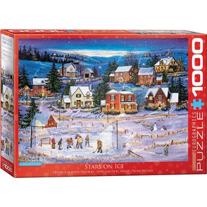 """Eurographics (6000-5440) - Patricia Bourque: """"Stars on the Ice"""" - 1000 pieces puzzle"""
