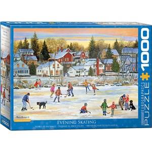 "Eurographics (6000-5439) - Patricia Bourque: ""Evening Skating"" - 1000 pieces puzzle"