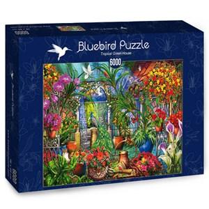 """Bluebird Puzzle (70258) - Ciro Marchetti: """"Tropical Green House"""" - 6000 pieces puzzle"""