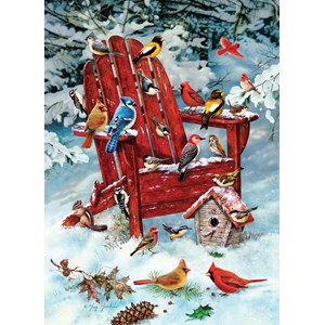 "Cobble Hill (70031) - Greg Giordano: ""Adirondack Birds"" - 1000 pieces puzzle"