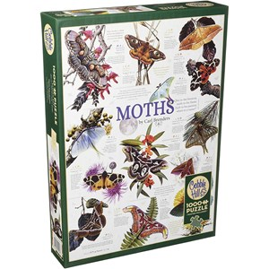 """Cobble Hill (80016) - Carl Brenders: """"Moth Collection"""" - 1000 pieces puzzle"""
