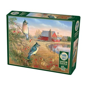 """Cobble Hill (80189) - Sam Timm: """"Cedar Waxwings"""" - 1000 pieces puzzle"""