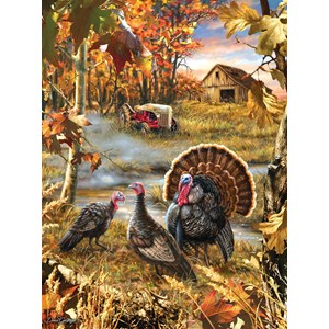 """SunsOut (57168) - Dona Gelsinger: """"Turkey Ranch"""" - 1000 pieces puzzle"""