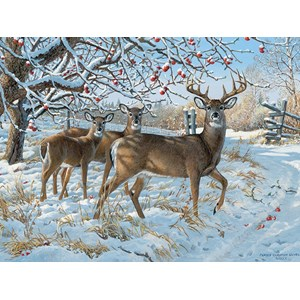 "Cobble Hill (57196) - Persis Clayton Weirs: ""Winter Deer"" - 1000 pieces puzzle"