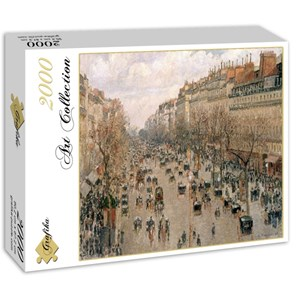 "Grafika (00512) - Camille Pissarro: ""Boulevard Montmartre, 1897"" - 2000 pieces puzzle"