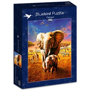 "Bluebird Puzzle (70314) - Adrian Chesterman: ""Elephant"" - 1000 pieces puzzle"