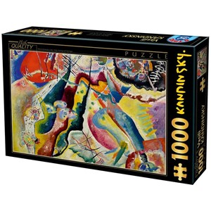 """D-Toys (75116) - Vassily Kandinsky: """"Painting with Red Spot"""" - 1000 pieces puzzle"""