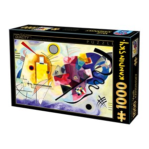 """D-Toys (75123) - Vassily Kandinsky: """"Yellow, Red, Blue"""" - 1000 pieces puzzle"""