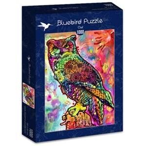 "Bluebird Puzzle (70093) - Dean Russo: ""Owl"" - 1000 pieces puzzle"