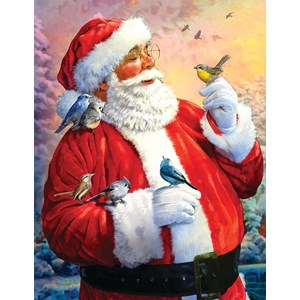 """SunsOut (50730) - Larry Jones: """"Morning Meeting with Santa"""" - 1000 pieces puzzle"""