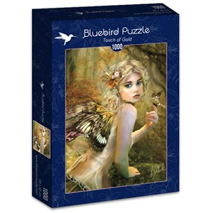 """Bluebird Puzzle (70174) - Bente Schlick: """"Touch of Gold"""" - 1000 pieces puzzle"""