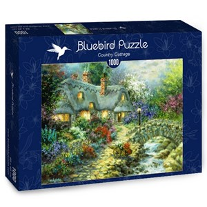 """Bluebird Puzzle (70064) - Nicky Boehme: """"Country Cottage"""" - 1000 pieces puzzle"""