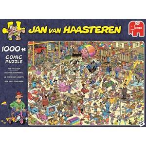 """Jumbo (19073) - Jan van Haasteren: """"The Toy Shop"""" - 1000 pieces puzzle"""