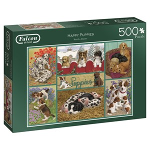 "Falcon (11219) - Sarah Adams: ""Happy Puppies"" - 500 pieces puzzle"