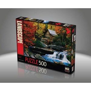 """KS Games (11336) - Katherine Hurtley: """"Autumn Chalet"""" - 500 pieces puzzle"""