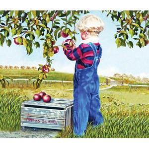 """SunsOut (26282) - Patricia Bourque: """"Apple Picking"""" - 550 pieces puzzle"""