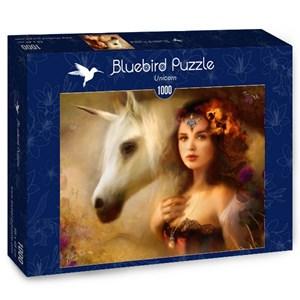 "Bluebird Puzzle (70158) - Bente Schlick: ""Unicorn"" - 1000 pieces puzzle"