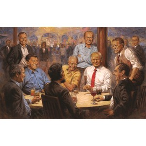 """SunsOut (19381) - Andy Thomas: """"The Republican Club"""" - 550 pieces puzzle"""