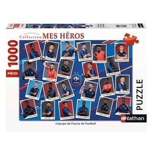 """Nathan (87629) - """"French Football Team"""" - 1000 pieces puzzle"""