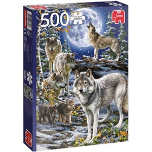 "Jumbo (18845) - ""Wolf Pack in Winter"" - 500 pieces puzzle"