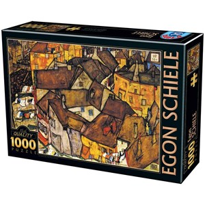 """D-Toys (76830) - Egon Schiele: """"Crescent Of Houses"""" - 1000 pieces puzzle"""