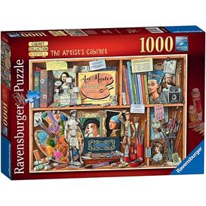"Ravensburger (14997) - Geoffrey Tristram: ""The Artist Cabinet"" - 1000 pieces puzzle"
