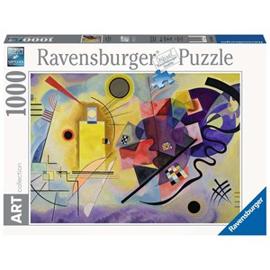 """Ravensburger (14848) - Vassily Kandinsky: """"Yellow, Red, Blue"""" - 1000 pieces puzzle"""