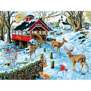 """SunsOut (38974) - Joseph Burgess: """"End of the Day Crossing"""" - 300 pieces puzzle"""