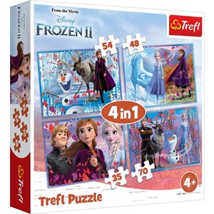 "Trefl (34323) - ""Frozen 2"" - 35 48 54 70 pieces puzzle"