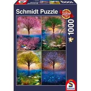 "Schmidt Spiele (58392) - ""Magic Tree on the Lake"" - 1000 pieces puzzle"