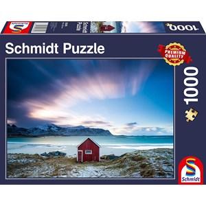 "Schmidt Spiele (58395) - ""Hut on the Atlantic Coast"" - 1000 pieces puzzle"