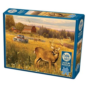 """Cobble Hill (85078) - Greg Giordano: """"Deer Field"""" - 500 pieces puzzle"""