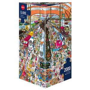 """Heye (29730) - Christoph Schöne: """"Train Station"""" - 2000 pieces puzzle"""