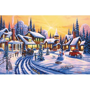 """SunsOut (51359) - Geno Peoples: """"A Winter Story"""" - 550 pieces puzzle"""