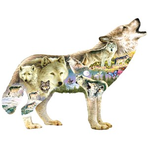 """SunsOut (96038) - Greg Giordano: """"Meadow Wolf"""" - 750 pieces puzzle"""