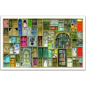 "Pintoo (h1201) - Colin Thompson: ""Closed doors"" - 1000 pieces puzzle"