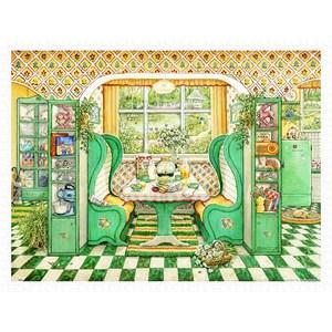 "Pintoo (h2002) - Janet Kruskamp: ""Breakfast Nook"" - 1200 pieces puzzle"