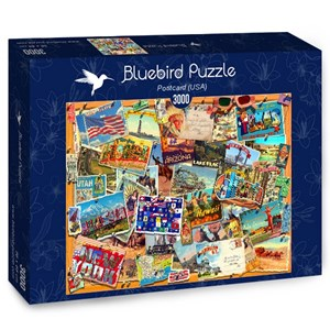 "Bluebird Puzzle (70170) - Garry Walton: ""Postcard (USA)"" - 3000 pieces puzzle"