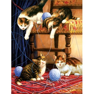 """SunsOut (13339) - Kevin Walsh: """"Balls of Yarn"""" - 500 pieces puzzle"""