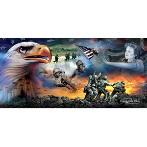 "SunsOut (69046) - Ray Simon: ""War Eagle"" - 1000 pieces puzzle"