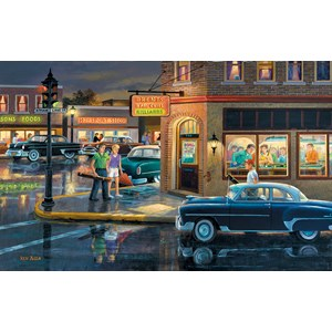 """SunsOut (37767) - Ken Zylla: """"Small Town Saturday Night"""" - 550 pieces puzzle"""