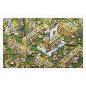 "Pintoo (h1023) - ""Smart, The Bookstore"" - 1000 pieces puzzle"