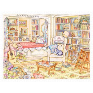 "Pintoo (h2026) - Kim Jacobs: ""Undisturbed in The Study"" - 1200 pieces puzzle"