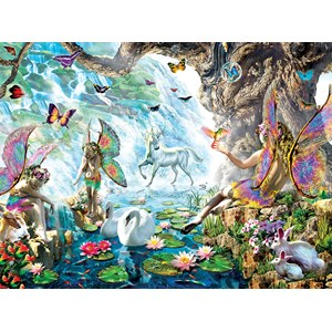 "SunsOut (68020) - Adrian Chesterman: ""Fairies at the Falls"" - 1000 pieces puzzle"