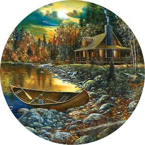 "SunsOut (74106) - Jim Hansel: ""Fall Cabin"" - 500 pieces puzzle"