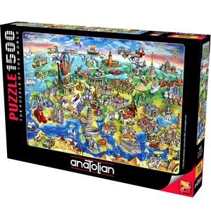 "Anatolian (4557) - Maria Rabinsky: ""European World"" - 1500 pieces puzzle"