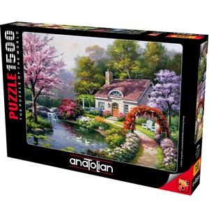 """Anatolian (4556) - Sung Kim: """"Spring Cottage In Full Bloom"""" - 1500 pieces puzzle"""