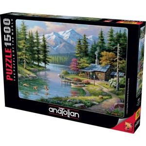 "Anatolian (4554) - Sung Kim: ""Resting Canoe"" - 1500 pieces puzzle"
